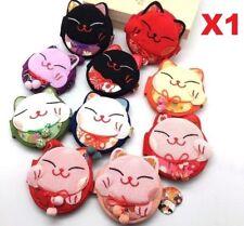X1 Random Maneki Neko Fabric Folding Mirror Lucky Fortune Cat Cosmetic Mirror