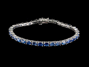 Bracelet Kyanite 14 ct Gold Coated Sterling Silver Genuine Gem Lady's Gift
