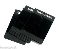 50 Black Earrings Jewellery Display Cards 52x37mm