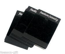 50 Black Earrings Jewellery Display Cards 52x37mm