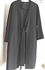 COS Minimalist Crepe Coat, Tie-Front Black, Size 6