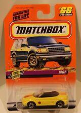 '97 MGF Matchbox 1998 Yellow #1 Stars and Stripes White