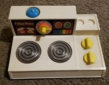 VINTAGE FISHER PRICE STOVE COOK TOP  #919 w MAGIC BURNERS 1978. Free shipping!