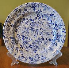 "Superb Antique Blue & White Ironstone Transferware Plate Clementson Citron 9.5"""