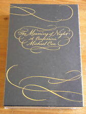 The Meaning of Night - Michael Cox Signed & Numbered Hardback Slipcased Sealed