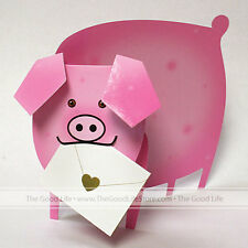 """3D Special Delivery Greeting Card - Pig """"Piggy"""" - SD-101"""