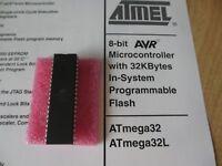 1PC Atmel ATMEGA32-16PU microcontroller 16MHZ DIP40  New  US Seller