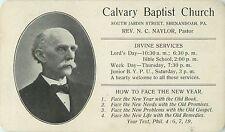 The Rev. N.C. Naylor, Calvary Baptist Church, Shenandoah Pa 1907
