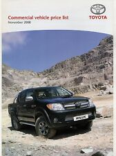 Toyota Commercials Prices & Options 2008-09 UK Market Brochure Hiace Hilux Dyna