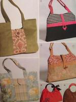 Butterick Sewing Pattern 4364 Three Lined Handbags Uncut Fashion Accessories