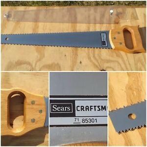 "Vintage SEARS Craftsman 71-85301 Wooden Handle Pruning Saw 15-1/2"" Double Blade"