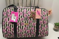 BETSEY JOHNSON Weekender LBCRUZIN Quilted Pink Hearts Large Tote  NWTs
