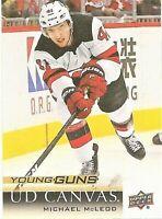 2018-19 Upper Deck Canvas #C212 Michael McLeod Young Guns New Jersey Devils RC