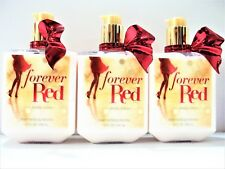 Bath Body Works FOREVER RED Body Lotion, 10 fl oz, NEW, x 3