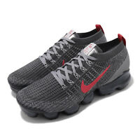 Nike Air Vapormax Flyknit 3 Crimson Grey Red Men Running Casual Shoes CT1270-001