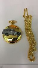Volvo 210 Duet Estate ref285 pewter effect emblem gold quartz pocket watch