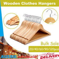 Wooden Clothes Hangers Coat Pant Suit Coathangers Rack Wardrobe Wood Bulk