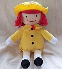 "Kohls Cares for Kids Madeline Plush Doll 13"" Tall Yellow Hat Coat Red Hair"