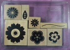 STAMPIN' UP! PETAL PIZZAZZ flowers blossoms spring summer rubber stamps #3731