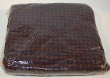 Ralph Lauren Millbrook Foulard Blue Burgundy Full XDP Fitted Sheet New Cotton