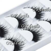 5 Pairs  Long Thick Makeup Tool False Eyelashes Eye Lashes Extension Cross