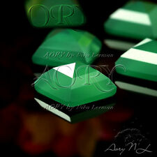 1pcs 10x10mm Natural Chalcedony Pyramid Cabochon, DYED,Green Color, Square Shape