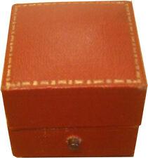 Authentic Vintage Push Button Square Cartier Ring Jewellery Box Case - Rare