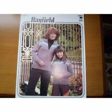 Knitting Pattern - Hayfield 1286 - Mother & Daughter D/K Zip Jacket 26-38""