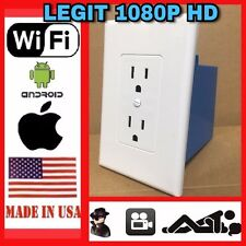 1080P HD WIRELESS Spy Plug Outlet WiFi IP Hidden DVR (NO ELECTRICITY IN OUTLET)