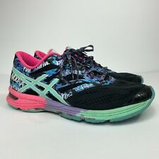 ASICS Gel Noosa Tri 10 Women's Size 8 Athletic Running Shoes Sneakers Black/Teal