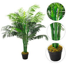 Single Pot Large Artificial Palm Trees Indoor Outdoor Fake Tropical Plants 130cm