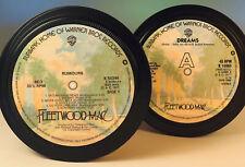 Fleetwood Mac - 2 vinyl record label coasters. Rumours. Dreams.