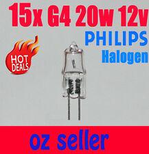 15x Philips g4 20w 12v clear Essential halogen bulb light Globe white