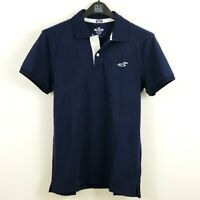 New Hollister Men's Stretch Polo Shirt Navy S, M, L, XL by Abercrombie
