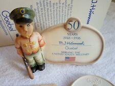 "Goebel Hummel 726 Soldier Boy Plaque ""50 Years of Partnership"" Le 0337/7500 Coa"