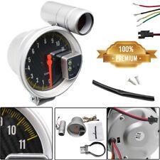 """Universal 5"""" Carbon Fiber Face Tachometer Tach Gauge + Shift Light 11K Rpm Usa(Fits: Hornet)"""
