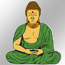 Buddha Vinyl Sticker Buddhist Monk Peace Wisdom 90 X 104 Mm Buddhism Peace