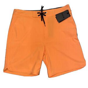 "Hurley Phantom 18"" Printed Volley Swim Shorts Trunks Sunset Mango Mens Size 30"