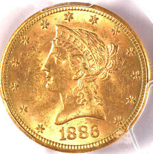 1886-S $10 MS62 PCGS/CAC- ONLY 331 IN HIGHER GRADE-LIBERTY HEAD