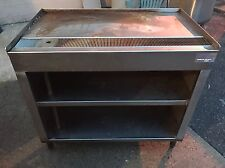 "Custom Made Stainless Steel Tea Coffee Station Table W/ Shelves & Drain 40""x24"""