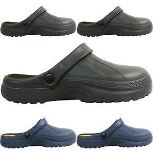 Mens Gents Slip On Lightweight Mules Shoes Summer Beach Size Work GARDEN Rubber