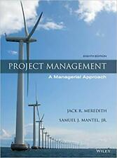Project Management : A Managerial Approach by Samuel J. Mantel (8th Edition)