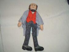"Vtg 70s Hallmark 7""Soft Fabric Pt Barnum Doll Famous Americans History Pb13"