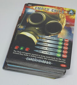Dr Doctor Who Battles In Time Cards - Complete TEST Common Set