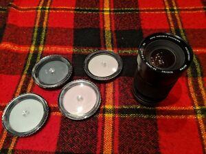 VIVITAR 28-85 mm 1:2.8 3.8 MC Auto Variable Focusing Camera Lens W bonus Filters