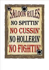 Wild West Cowboy Saloon bar vintage stile retrò in metallo Insegna Pub INSEGNA, Segno Saloon