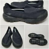 Skechers Go Walk Black Slip On Low Walking Shoes Sneaker Women's Size 9