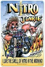 Hot Rod Drag Race Car Nitro Junkie Metal Sign Man Cave Garage Club Shop MLK007