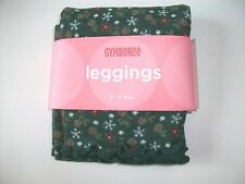 NWT Gymboree MOUNTAIN CABIN Forest Green Pine Cone Floral Leggings Sz 18-24 mo
