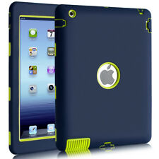 Heavy Duty Hard PC Soft Durable Cover Full Body Protective Case for iPad 2/3/4